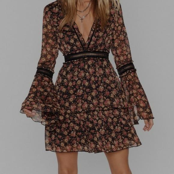 Nasty Gal floral mini dress